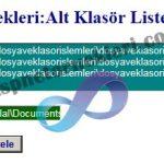 Asp.Net Alt Klasörleri Listeleme