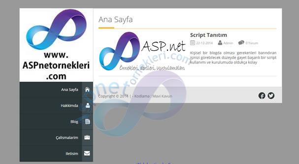 Asp.net Kişisel Blog Sitesi