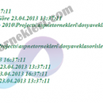 Asp.net Dosya İşlemleri Dosya Bilgilerini Öğrenme FileInfo