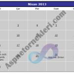 Asp.Net Calendar (Takvim) Kontrolü ile Etkinlik Takvimi Yapımı
