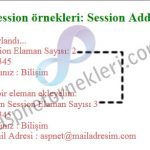 Asp.net Session'a Bilgi Ekleme (Session.Add)