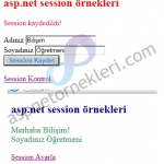 Asp.net Session Kullanımı