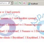 Asp.net Şifre Güvenliği ve Şifrenin Belli Şartlara Uygunluğu
